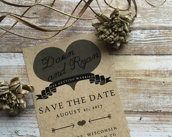 Rustic Save the Date, Country Save the Date, Kraft Save the Date, Western Save the Date, Wedding Save the Date, Custom Save the Date