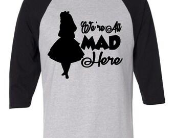 Alice In Wonderland Raglan