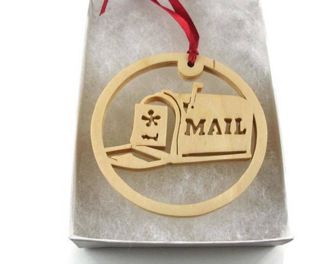 Mailbox Christmas Ornament Handmade From Birch Wood By KevsKrafts