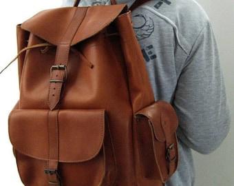 SALE ! Handmade Vintage Leather Backpack Univercity College Backpack School Backpack, Leather Rucksack, Travel Backpack