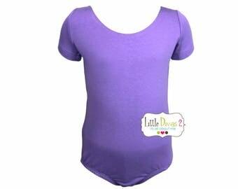 Violet Leotard-Ballet Short Sleeve Leotard (Children's)