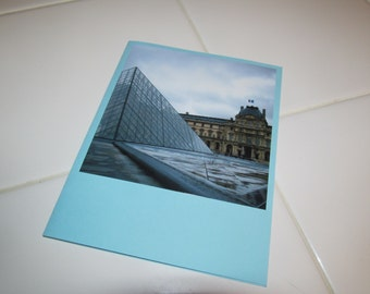 Instagram Photo Card -- Louvre Pyramid -- Greeting Card -- Blank Inside