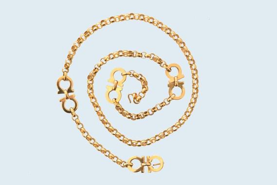 Ferragamo Gold Chain Belt