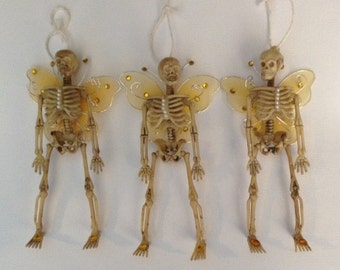 Skeleton Fairies, Dia de los Muertos, Fairy Ornament, Day of the Dead, Trio of Fairies