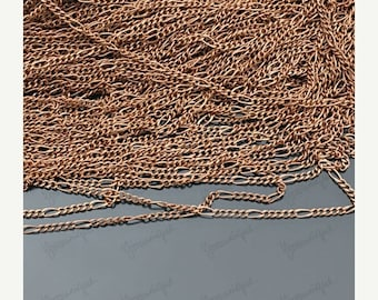 Moving 50off Sale - 3M (9.9ft)  Antiqued Copper Metal Chain 5:1 C-76