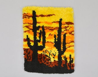 70's Saguaro Shag Tapestry / Wall Hanging