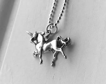 Unicorn Necklace, Sterling Silver, Unicorn Jewelry, Gifts for Her, Everyday Jewelry, Unicorns, Handmade Necklace, Unicorn Pendant