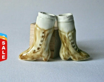 Final Markdown- Sale - Porcelain Bisque Baby Doll Legs with Excellent Detail for Doll Making and Repair