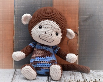 Crochet Monkey, Monkey Toy, Monkey Amigrumi, Stuffed Animal, MADE TO ORDER