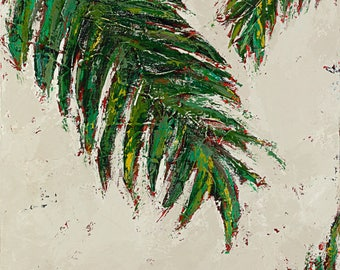 "Palms, painting, abstract art, Mai Tai Breezes, 3/4"" thick canvas"