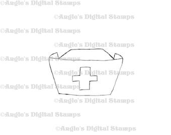 Nurse Hat Digital Stamp Image