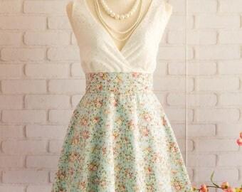 White dress white lace dress Blue Green dress Green party dress Green bridesmaid dresses Green  floral bridesmaid dresses Green sundress