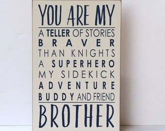 You Are My Brother Wood Sign, Superhero Brother, Brothers Wood Sign, Brothers Room Decor, Sibling Wall Art, Brothers Room, Wooden Sign
