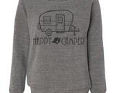 Happy Camper Tee Digital Download, Happy Camper SVG, Happy Camper DIY Decal, Happy Camper Vinyl Template