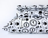 Black and white duvet cover - GENTLEMAN - organic duvet cover  - TWIN duvet cover - organic bedding - twin bedding girl - teen duvet cover