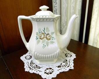 Tea or Coffee Pot, Teapot - Adams Madeleine - Vintage Porcelain Pot 8699
