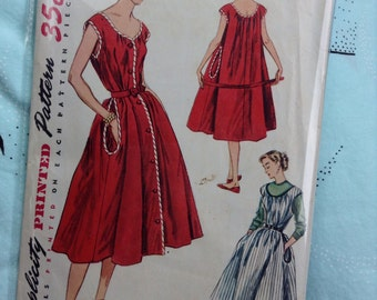 "Vintage Simplicity 4078 Reversible Tent Dress Sewing Pattern 32"" Bust"