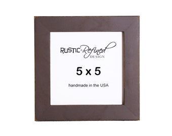 "5x5 Gallery 1"" picture frame - Chocolate Brown"