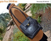 ON SALE Vintage Coach Bag Coach   Leather Black  Excellent Condition Brass Hardware Fits Ipad Perfect