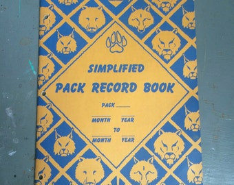 Vintage 1947 Simplified Boy Scout Cub Scout Pack Record Booklet Vintage Scouting