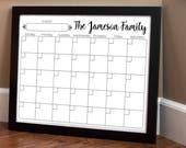 Print Your Own - Family Calendar - Style 1.7