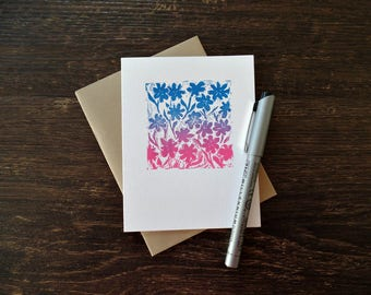 Hello cards, Floral notecards, Flower note cards, Blank cards, Just because card, Cute cards, Thinking of you card, All occasion cards