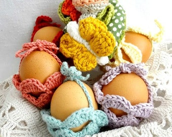 CROCHET PATTERN Easter Egg Gift Basket - Easter egg cozy,gift baskets, Easter decor, crochet egg cozy,egg cover,PDF Pattern - photo tutorial