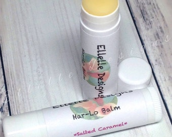 "Salted Caramel Lip Balm - Lip Balm - Lipbalm - Natural Lip Care - Lip Butter - Balm - Natural Lip Balm ""Salted Caramel Har-Lo Balm"""