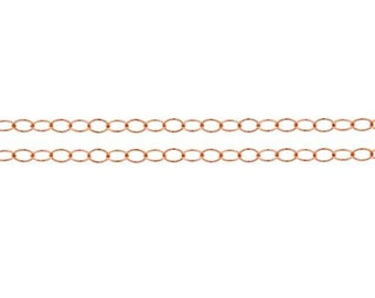 Chains, Cable Chain, 14Kt Rose Gold Filled, 2.8x2mm - 100ft (10362-100)/1