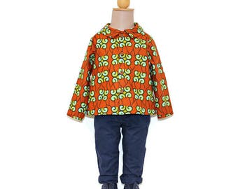 African print baby boy shirt, Ankara boys shirt, African shirt for boys