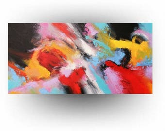 MADE TO ORDER -Abstract Art Painting - 24 x 48 - Colors of the Wind 2