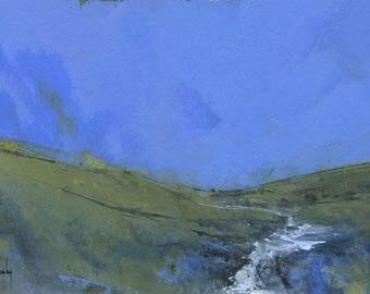 Original landscape painting - Afon Claerwen