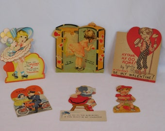 Vintage Collection of Mechanical Valentines Cards