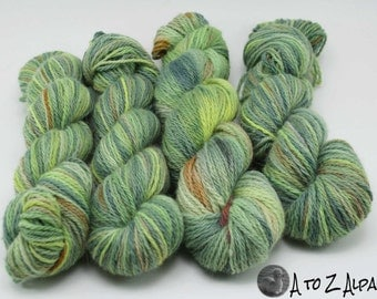 Hand Dyed Pure Alpaca Yarn Worsted Weight
