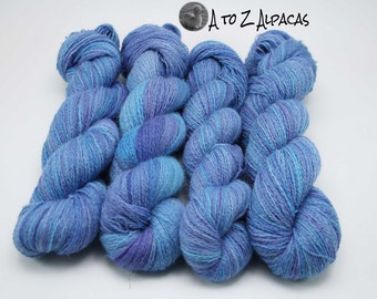 Hand Dyed Pure Alpaca Yarn Lace Weight - Meandering Streams
