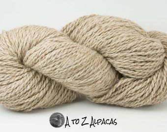 Chunky Weight - Taupe - Alpaca Yarn - Made in Canada