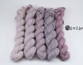 Hand Dyed Pure Alpaca Yarn Worsted Weight Mini Set