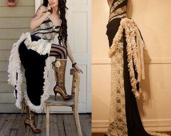 Steampunk Wedding Dress - Victorian Dress - Gothic Dress - Madame Victorienne Robe Blanche - Fairy Dress - Made to Order
