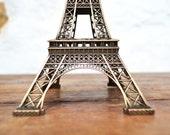9.5 inch Eiffel Tower Paris Souvenir Metal French France