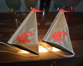 WSU Cougar Sails Set of (2)