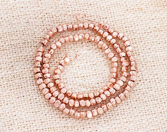 120 of Karen hill tribe Rose Gold Vermeil Style Faceted Rondelle Beads 1.8 mm., 6.5 inches  :pg0474