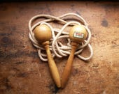 Vintage Sport Craft Wood Handled Jump Rope - Great Mudroom Decor, Made in England