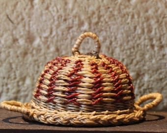 1:12th Scale Woven Domed Platter