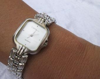 Woman Wrap Watch bronze wrist watch roman numerals, genuine leather, bead watch, bracelet watch real leather, vintage antique bronze watch