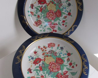 Enamelware Bowls Floral Set of Two Brazil Action Industries