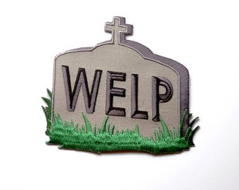 WELP patch - sad and defeated iron on death patch, highly goth