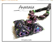 20% off Beading Pattern, Instructions, Tutorial, Herringbone, Ndbele Stitch, Pillow Beads Necklace Instant Download ANASTASIA