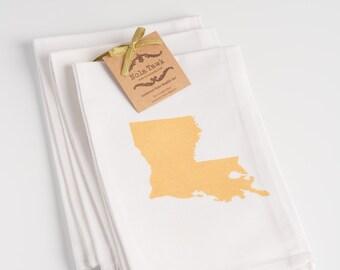 Louisiana State Napkin Set of 4