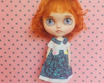 Rose print dress for Blythe Doll by StableHouse