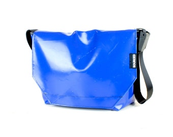 Large Messenger Bag made from Recycled Truck Tarp, Man Bag, Satchel Style Bag, MacBook Bag (59.09)